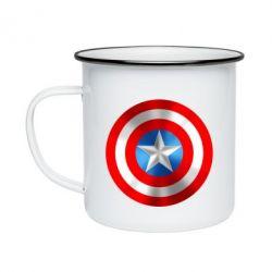 Кружка эмалированная Captain America 3D Shield