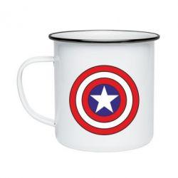 Кружка эмалированная Captain America