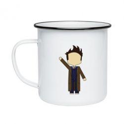 Кружка эмалированная Cartoon Doctor Who