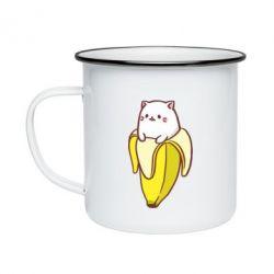 Кружка эмалированная Cat and Banana
