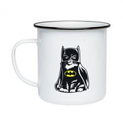 Кружка емальована Cat Batman