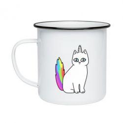 Кружка эмалированная Cat Unicorn