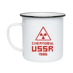 Кружка эмалированная Chernobyl USSR - FatLine