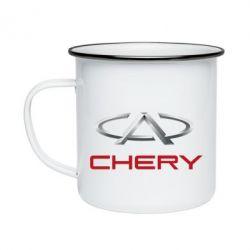 Кружка эмалированная Chery Logo