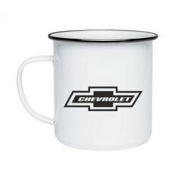 Кружка емальована Chevrolet Log