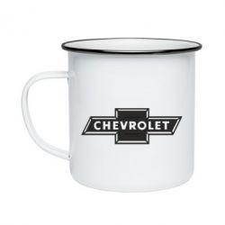 Кружка емальована Chevrolet Logo Small