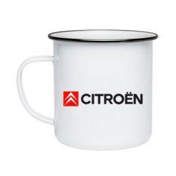 Кружка емальована Citroën Logo