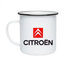 Кружка эмалированная CITROEN 2