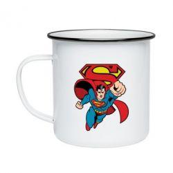 Кружка емальована Comics Superman