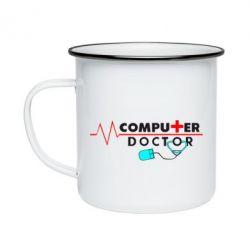 Кружка емальована Computer Doctor