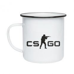 Кружка эмалированная Counter Strike GO