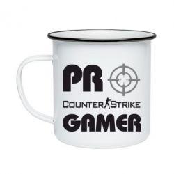 Кружка эмалированная Counter Strike Pro Gamer - FatLine