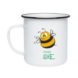 Кружка емальована Crazy Bee