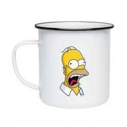 Кружка эмалированная Crazy Homer! - FatLine