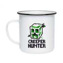 Кружка эмалированная Creeper Hunter