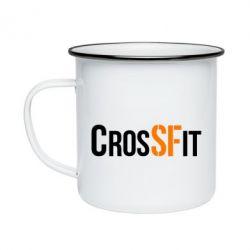 Кружка емальована CrossFit SF