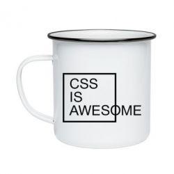 Кружка емальована CSS is awesome