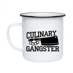 Кружка емальована Culinary Gangster