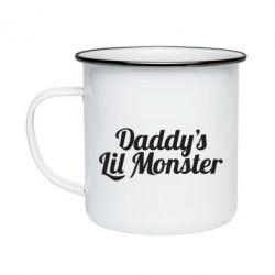 Кружка емальована Daddy's Lil Monster