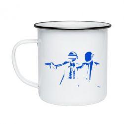 Кружка эмалированная Daft Punk group