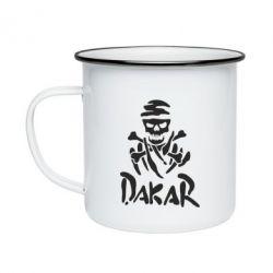 Кружка эмалированная DAKAR LOGO