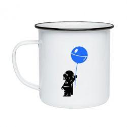 Кружка эмалированная Дарт Вейдер с шариком - FatLine