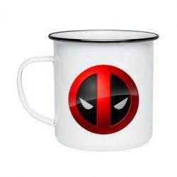 Кружка эмалированная Deadpool Logo