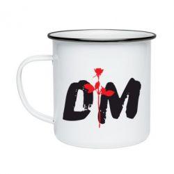 Кружка эмалированная depeche mode logo