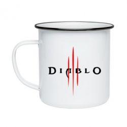 Кружка эмалированная Diablo 3