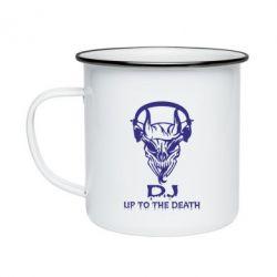 Кружка емальована Dj Up to the Dead