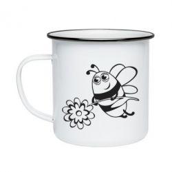 Кружка эмалированная Добрая пчелка