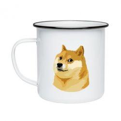 Кружка емальована Doge