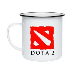 Кружка эмалированная Dota 2 Big Logo