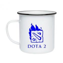Кружка емальована Dota 2 Fire