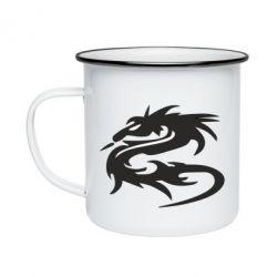 Кружка емальована Дракон