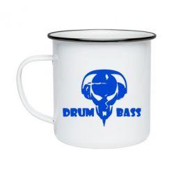 Кружка емальована Drumm Bass