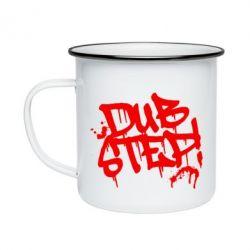 Кружка эмалированная Dub Step Граффити - FatLine