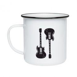 Кружка емальована Дві гітари