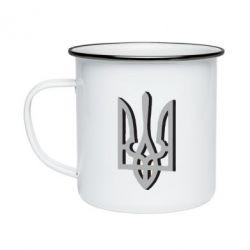 Кружка емальована Двокольоровий герб України