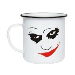 Кружка емальована Джокер