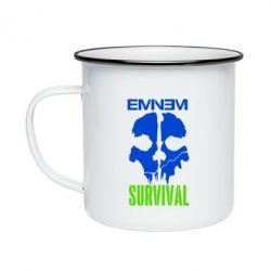 Кружка емальована Eminem Survival