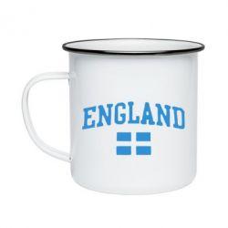 Кружка емальована England