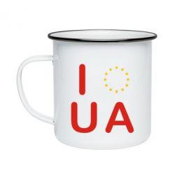 Кружка эмалированная Euro UA - FatLine
