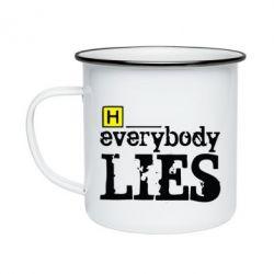 Кружка емальована Everybody LIES House
