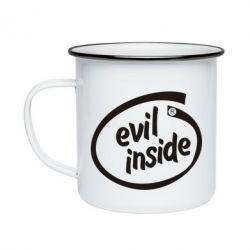 Кружка емальована Evil Inside