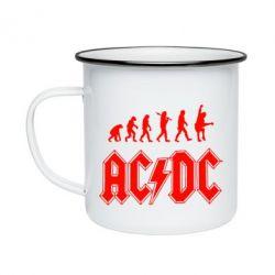 Кружка емальована Еволюція AC\DC