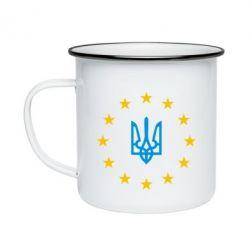 Кружка эмалированная ЕвроУкраїна