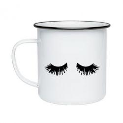 Кружка емальована Eyelashes