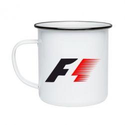 Кружка эмалированная F1