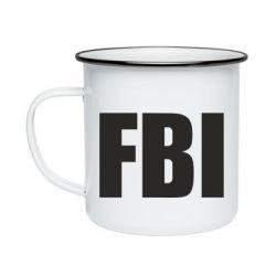 Кружка эмалированная FBI (ФБР)